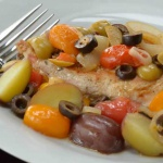 pollo con le olive, chicken with olives