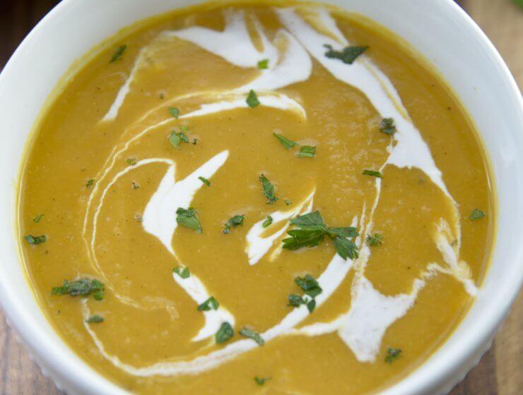 rested. butternut soup