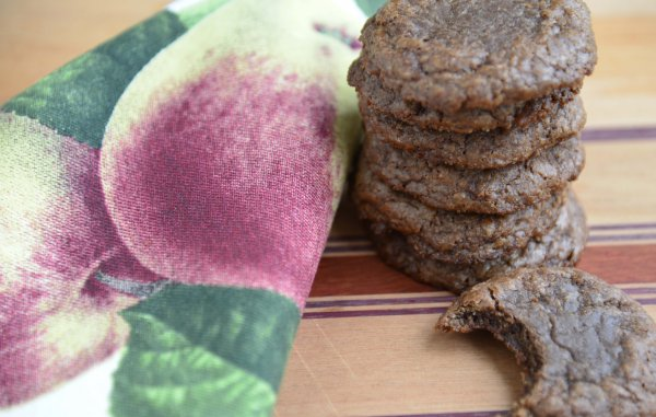 fudgy hazelnut cookies